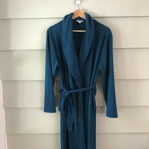 CORAL BAY Turquoise Blue Classic Robe Size M EUC